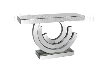 Swirl Mirrored Console Table 119cm x 79cm x 35cm deep