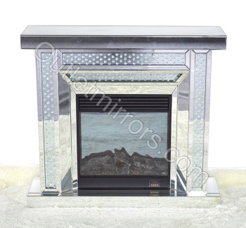 Floating crystals Mirrored fire place with electric fire - pre order now 10% deposit