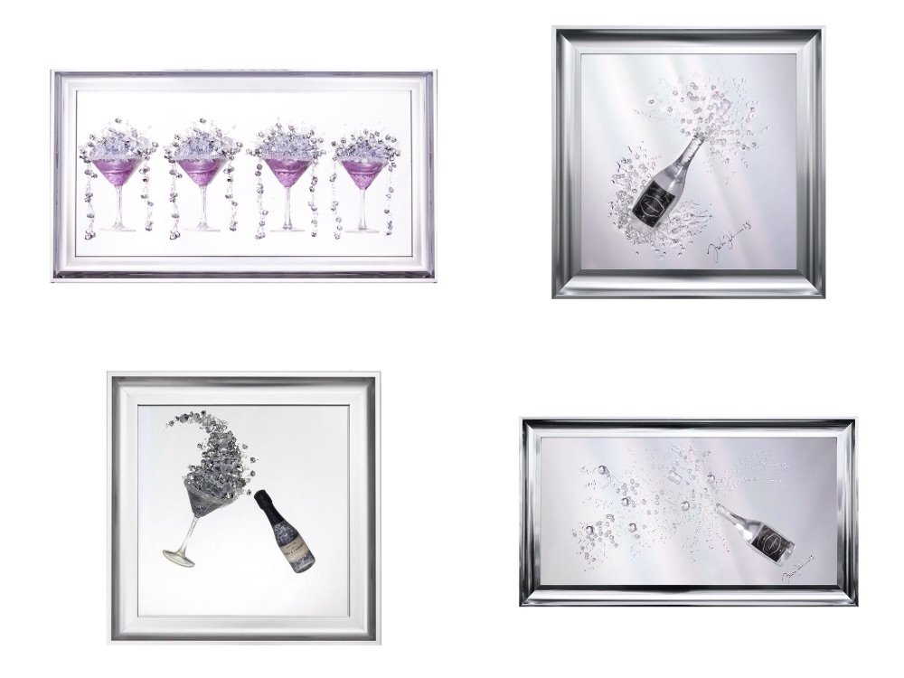 *Glitter Drinks wall art