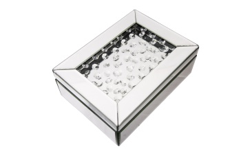 Floating crystal Mirrored Jewel Box