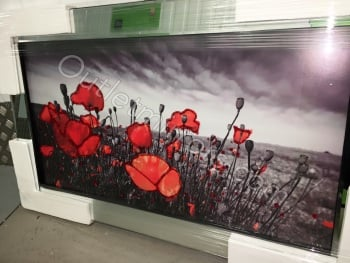 "Mirror framed art print ""Poppy Field"""