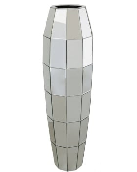 Mirrored Vase in Silver 117cm x 36cm