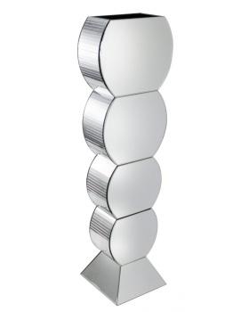 Mirrored Bubble Vase in Silver