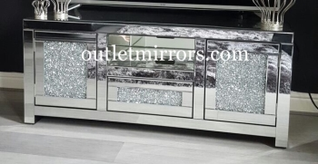 * Diamond Crush Sparkle Mirrored TV Entertainment Unit 130cm wide sold out - back orders now being taken
