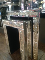 Crush Sparkle Crystal Mirrored Nest of Tables