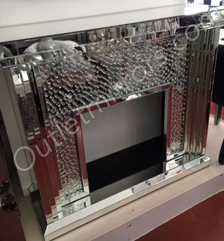 Floating Crystals mirrored Fire Surround - item in stock