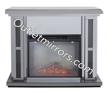 Crush Sparkle Smoked Mirrored Fire Surround with electric fire - pre order now with a 10% deposit