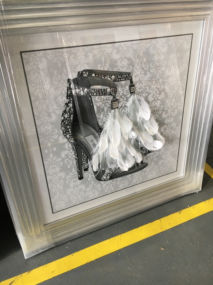 Mirror Framed Art Print Quot Glitter Sparkle London Feather