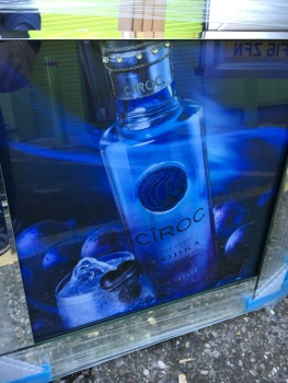 ** Ciroc Vodka Glitter Art Mirrored Frame ** 57cm x 57cm  in stock for a quick delivery