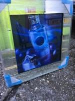 ** Ciroc Vodka Glitter Art Mirrored Frame ** 55cm x 55cm  in stock for a quick delivery