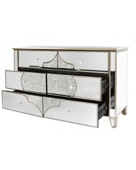 Sharma 6 Draw Mirrored Cabinet / Sideboard