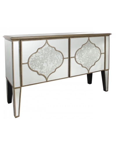 Sharma 2 Draw Mirrored Cabinet / Sideboard