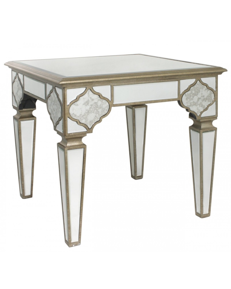Sharma mirroed End Table