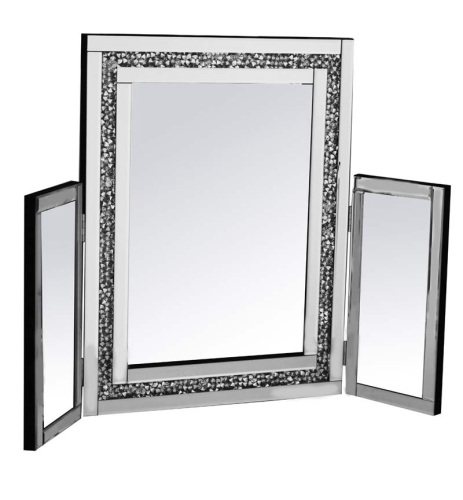 Diamond Crush Sparkle Tri Fold Mirror new value range 78cm x 54cm