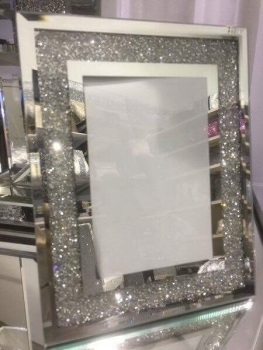 "Crush Sparkle Glitter Mirror Photo frame 5"" x 7"""