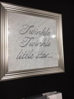 Twinkle Twinkle little Star Sparkle glitter Art 75cm x 75cm