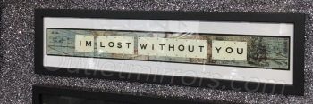 Im Lost Without You Sparkle glitter Art 90cm x 20cm