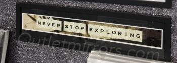 Never Stop Exploring Sparkle glitter Art 90cm x 20cm