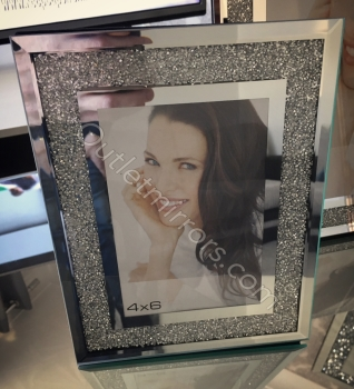 "Crush Sparkle Glitter Mirror Photo frame 4"" x 6"""