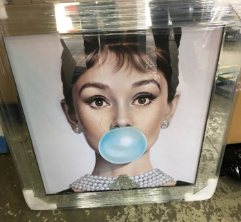 "Mirror framed ""Hepburn Bubble "" Wall Art"