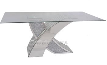 "* Diamond Crush Sparkle Dining Table ""Nesta"" in stock"