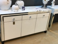 Atlanta  White Mirrored 3 Draw Sideboard