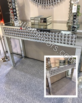 Crystal Baubles Mirrored Console Table