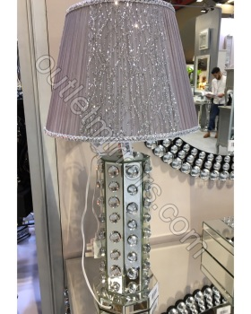 Crystal Bauble Mirrored Table Lamp  item in stock for a fast delivery