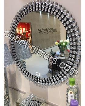 Crystal Baubles Round Mirror 90cm dia