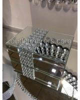 Crystal Bauble Mirrored Jewel Box