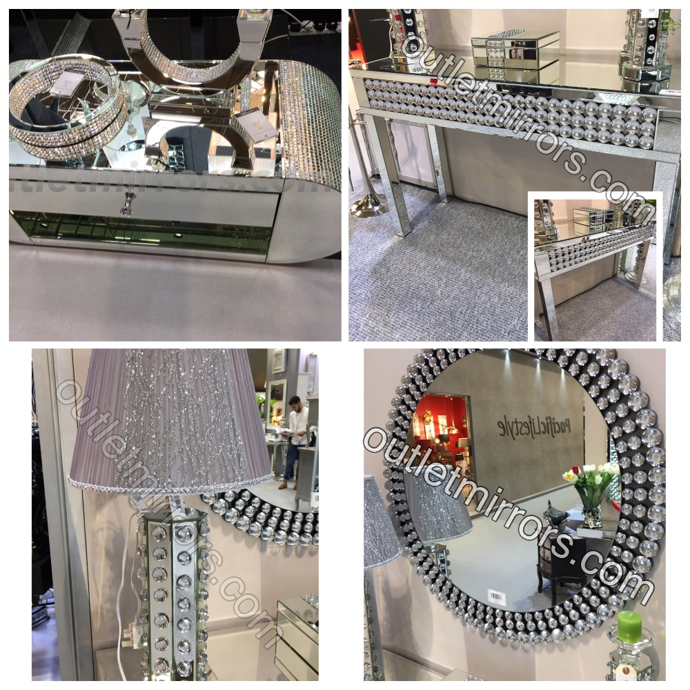 *Crystal Mosaic & Bauble Mirrored Furniture