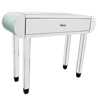 Mosaic Crystal Silver 1 Draw Mirrored Console Table