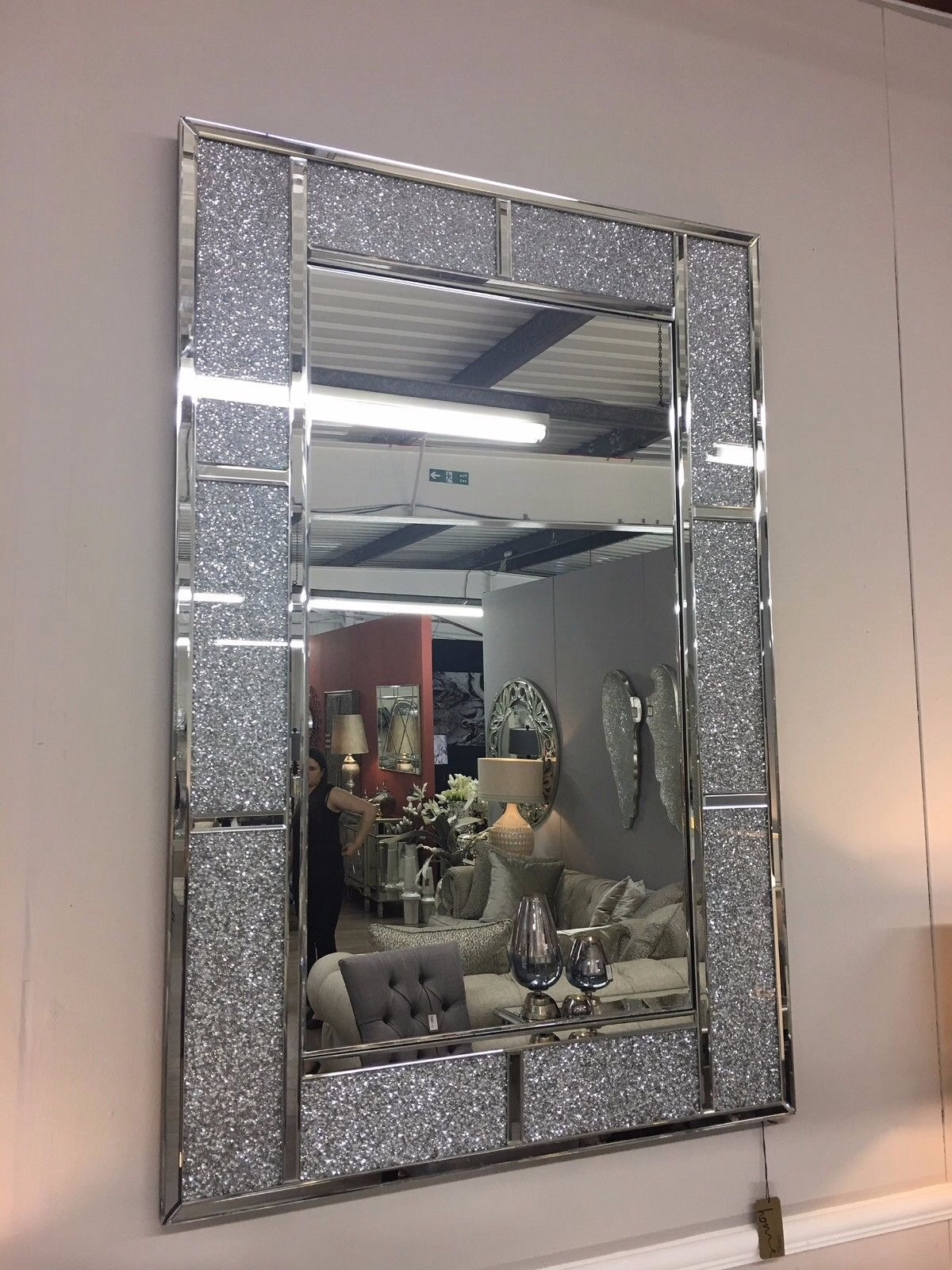 Crush Sparkle Bricks Crystal Wall Mirror 120cm X 80cm