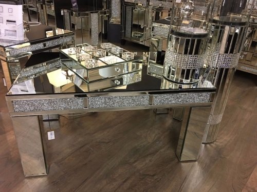 Crush Sparkle Crystal Mirrored Coffee Table