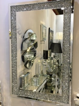 *special offer* New Diamond Crush Sparkle Wall Mirror 120cm x 80cm instock for fast delivery