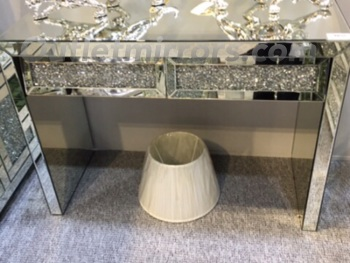 Crush Sparkle 2 Draw Console Table item in stock
