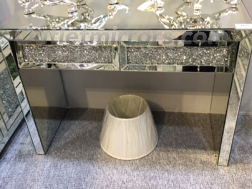 Crush Sparkle 2 Draw Console Table