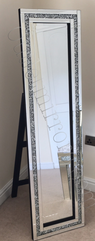 Diamond Crush Sparkle Cheval Mirror new value range 150cm x 40cm