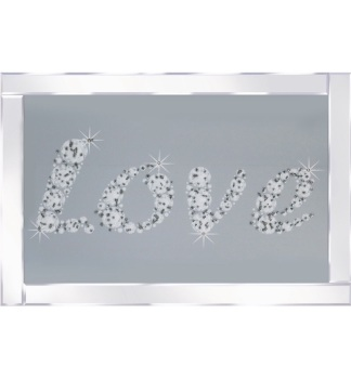 "Mirror framed art print "" Sparkle Love"" 100cm x 60cm"