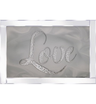 "Mirror framed art print "" Sparkle Love 2"" 100cm x 60cm"