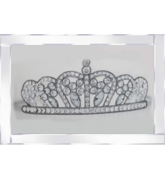 "Mirror framed art print "" Sparkle Princess Crown"" 100cm x 60cm"