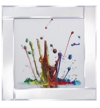 Mirror framed art print Colour Splash 60cm x 60cm