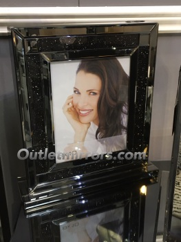"Smoked Crush Sparkle Glitter Mirror Photo frame 8"" x 10"""