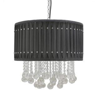 Versailles Black Ceiling Shade with Crystal cut Glass Droplets
