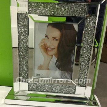 "Crush Sparkle Glitter Mirror Photo frame 8"" x 10"""