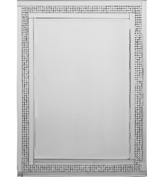 Mosaic Crystal Silver Border Wall Mirror 120cm x 80cm