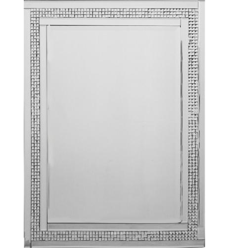 Mosaic Crystal Silver Border Wall Mirror 120cm x 80cm. Crystal Silver Border Wall Mirror 120cm x 80cm