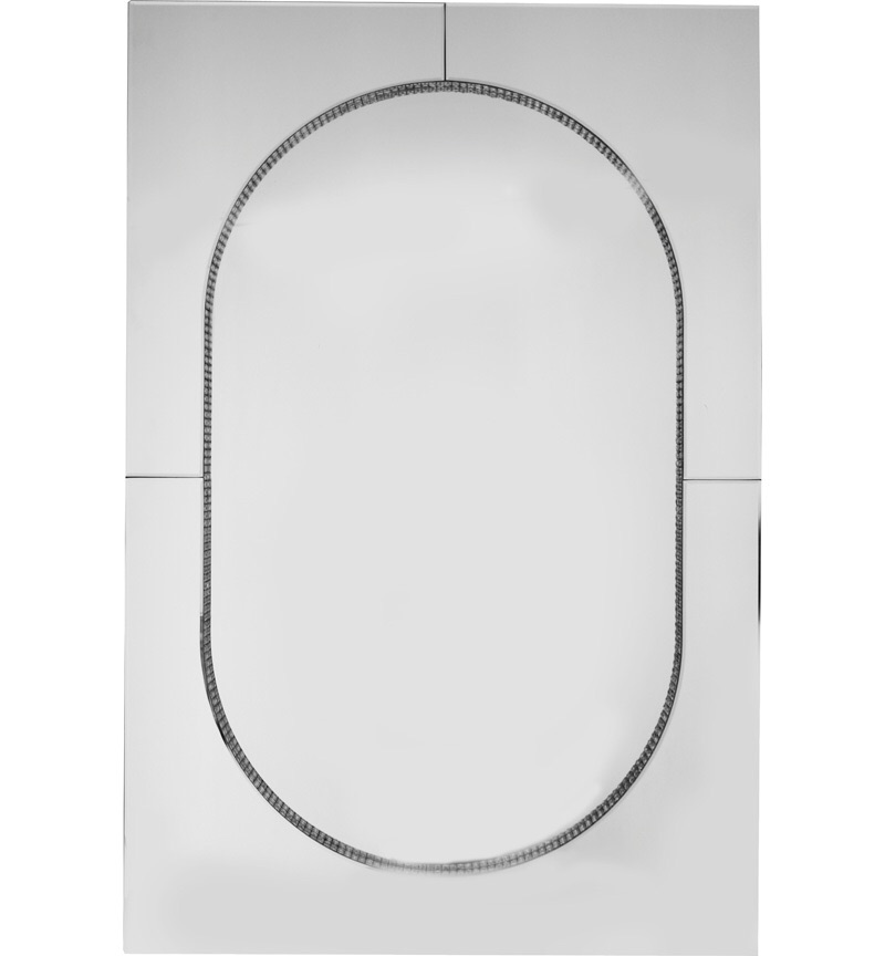 Mosaic Crystal Silver Border Oval Centre Wall Mirror 120cm x 80cm