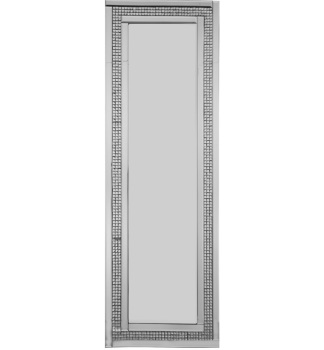 Mosaic Crystal Silver Border Wall Mirror 120cm x 40cm