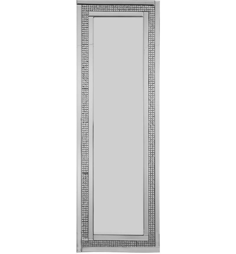 Mosaic Crystal Silver Border Wall Mirror 120cm x 40cm